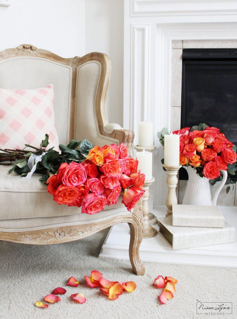hoa để bàn phòng khách